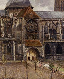 Portal of the Church Saint-Jacques, Dieppe, 1901 by Pissarro | Painting Reproduction