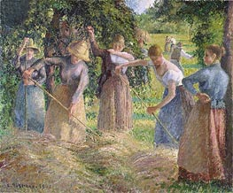 Harvest at Eragny, 1901 by Pissarro | Painting Reproduction