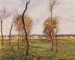 A Meadow in Moret, 1901 by Pissarro | Painting Reproduction