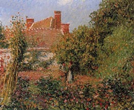 Kitchen Garden at Eragny, Afternoon | Pissarro | Painting Reproduction