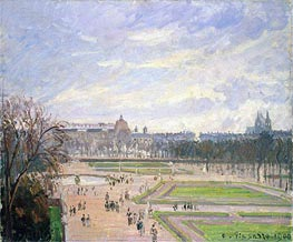 The Tuileries Gardens, 1900 by Pissarro | Painting Reproduction
