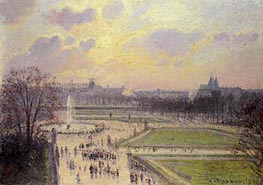 The Bassin des Tuileries | Pissarro | Painting Reproduction