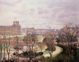 View of the Tuileries - Morning | Pissarro | Painting Reproduction
