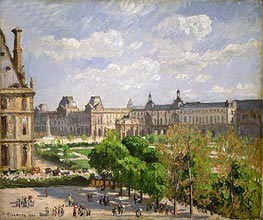 Place du Carrousel, the Tuileries Gardens | Pissarro | Painting Reproduction