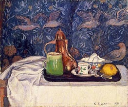 Still LIfe with a Coffee Pot, 1900 by Pissarro | Painting Reproduction