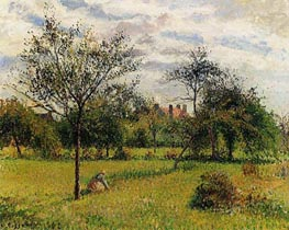 Morning, Autumn Sunlight, Eragny, 1900 by Pissarro | Painting Reproduction