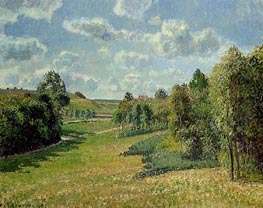 Berneval Meadows, Morning, 1900 by Pissarro | Painting Reproduction