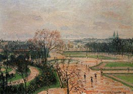 The Tuileries Gardens - Rainy Weather, 1899 by Pissarro | Painting Reproduction