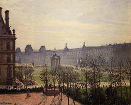 The Carrousel - Autumn, Morning | Pissarro | Painting Reproduction