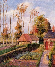 Varengeville, Sunset | Pissarro | Painting Reproduction