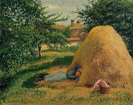 The Siesta, Eragny, 1899 by Pissarro | Painting Reproduction
