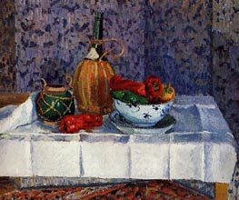 Still Life with Spanish Peppers, 1899 by Pissarro | Painting Reproduction