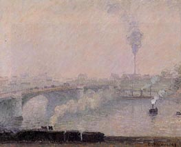 Rouen, Fog Effect, 1898 by Pissarro | Painting Reproduction