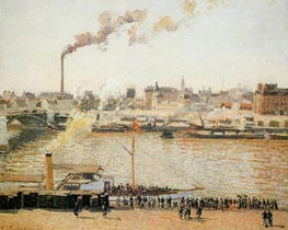 Rouen, Saint-Sever - Morning | Pissarro | Painting Reproduction