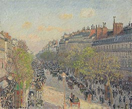 Boulevard Montmartre - Sunset, 1897 by Pissarro | Painting Reproduction