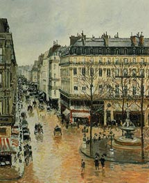 Rue Saint-Honore - Afternoon, Rain Effect, 1897 by Pissarro | Painting Reproduction