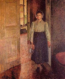 The Young Maid, 1896 by Pissarro | Painting Reproduction