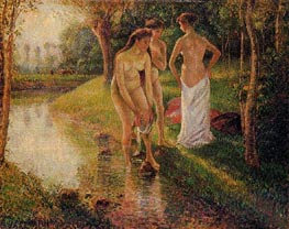 Bathers, 1896 by Pissarro | Painting Reproduction