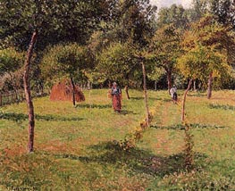 Enslosed Field at Eragny, 1896 by Pissarro | Painting Reproduction