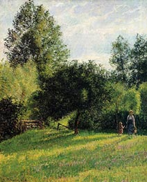 Apple Trees, Sunset, Eragny, 1896 von Pissarro | Gemälde-Reproduktion