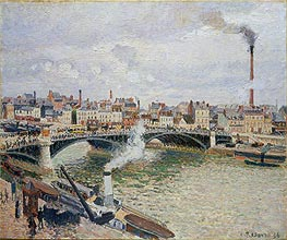 Morning, An Overcast Day, Rouen | Pissarro | Painting Reproduction