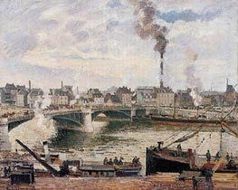 The Great Bridge, Rouen, 1896 by Pissarro | Painting Reproduction