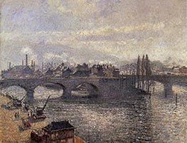 Le Pont Corneille a Rouen, Effet du Matin, 1896 by Pissarro | Painting Reproduction
