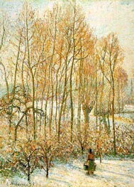 Morning Sunlight on the Snow, Eragny-sur-Epte, 1895 by Pissarro | Painting Reproduction