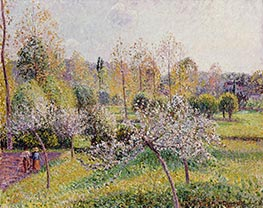 Flowering Apple Trees, Eragny, 1895 by Pissarro | Painting Reproduction
