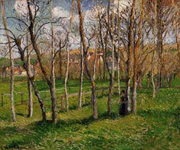 The Meadow at Bazincourt | Pissarro | Gemälde Reproduktion