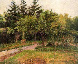 The Garden at Eragny, c.1895 by Pissarro | Painting Reproduction