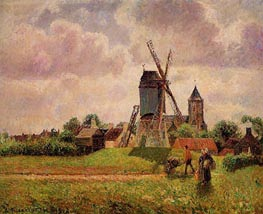 The Knocke Windmill, Belgium, 1894/02 by Pissarro | Painting Reproduction