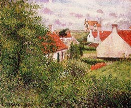 Houses at Knocke, Belgium, 1894 by Pissarro | Painting Reproduction