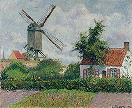 Windmill at Knokke, Belgium, 1894 by Pissarro | Painting Reproduction