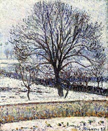 The Thaw, Eragny, 1893 by Pissarro | Painting Reproduction