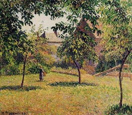 The Barn, Morning, Eragny, 1893 by Pissarro | Painting Reproduction