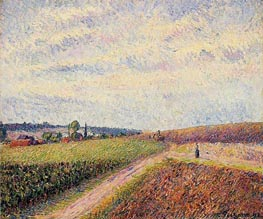 View of Eragny, 1892 by Pissarro | Painting Reproduction