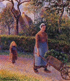 Woman with a Wheelbarrow | Pissarro | Gemälde Reproduktion