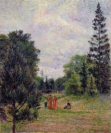 Kew Gardens, Crossroads near the Pond | Pissarro | Painting Reproduction