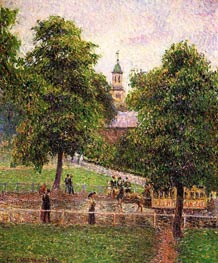 Church at Kew | Pissarro | Gemälde Reproduktion