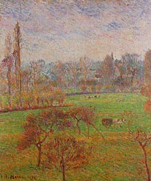 Morning, Autumn, Eragny | Pissarro | Painting Reproduction