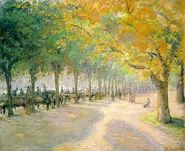 Hyde Park, London, 1890 by Pissarro | Painting Reproduction