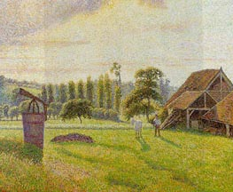 Brickworks at Eragny, 1888 von Pissarro | Gemälde-Reproduktion