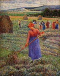 Haymakers at Eragny, 1889 von Pissarro | Gemälde-Reproduktion