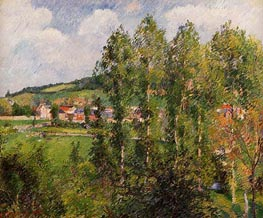 Gisors, New Section, 1885 von Pissarro | Gemälde-Reproduktion