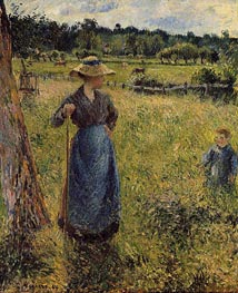 The Tedder, 1884 von Pissarro | Gemälde-Reproduktion