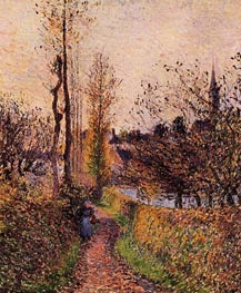 La Sentier de Basincourt, 1884 by Pissarro | Painting Reproduction