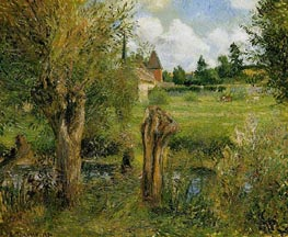 The Banks of the Epte at Eragny, 1884 von Pissarro | Gemälde-Reproduktion