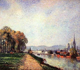 View of Rouen (Cours-la-Reine) | Pissarro | Gemälde Reproduktion