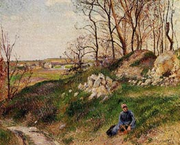 The Chou Quarries, Pontoise, 1882 von Pissarro | Gemälde-Reproduktion
